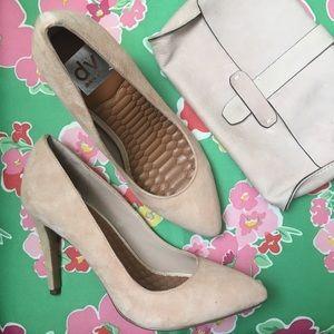 GAP suede clutch pink tan FREE GIFT w/DV heels